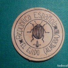 Reproducciones billetes y monedas: CARTÓN MONEDA DE USO PROVISIONAL - EL EJIDO - ALMERÍA - 1937 - 10 CTS. - REPÚBLICA ESPAÑOLA. Lote 67631929