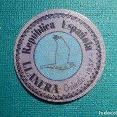 Reproducciones billetes y monedas: CARTÓN MONEDA DE USO PROVISIONAL - LLANERA - OVIEDO - 1937 - 30 CTS. - REPÚBLICA ESPAÑOLA. Lote 67632765