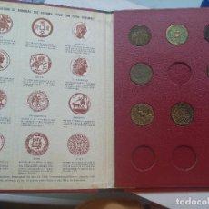 Reproducciones billetes y monedas: LIBRO DE COLECCION CON 9 REPRODUCCIONES DE MONEDAS ANTIGUAS. CIRCULO AMIGOS DE LA HISTORIA. Lote 67788337