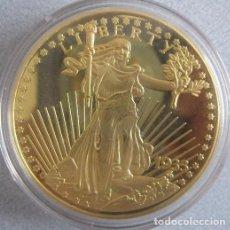 Reproducciones billetes y monedas: BONITA REPRODUCCION DEL GOLD EAGLE DOLAR 1933 PROCEDENTE DE ALEMANIA EDICION LIMITADA Y CERTIFICADA. Lote 67947857