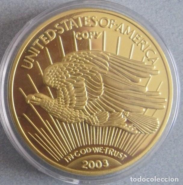 Reproducciones billetes y monedas: BONITA REPRODUCCION DEL GOLD EAGLE DOLAR 1933 PROCEDENTE DE ALEMANIA EDICION LIMITADA Y CERTIFICADA - Foto 2 - 67947857