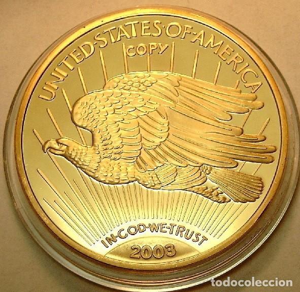 Reproducciones billetes y monedas: BONITA REPRODUCCION DEL GOLD EAGLE DOLAR 1933 PROCEDENTE DE ESTADOS UNIDOS EDICION LIMITADA - Foto 2 - 148269725