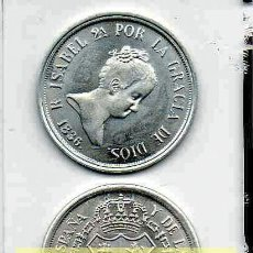 Reproducciones billetes y monedas: L22 MONEDA, MEDALLA, REPRODUCCIÓN, REPLICA 2.18 EKL LP ~ 4 REALES ~ ISABEL II~ DE PLATA 800 *EKO. Lote 155685237