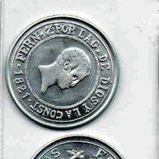 Reproducciones billetes y monedas: L22 MONEDA, MEDALLA, REPRODUCCIÓN, 2.17 EKL LP ~ RESELLADO ~ 10 REALES ~ FERNANDO VII~ DE PLATA 800. Lote 134070761