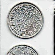 Reproducciones billetes y monedas: L22A MONEDA PLATA 800 / 2 REALES ~ FELIPE V CECA DE SEGOVIA 1708 EKL, LP MEDALLA, REPLICA, REPRODUC. Lote 209874570
