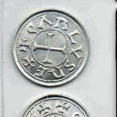 Reproducciones billetes y monedas: L22A MONEDA PLATA 800 / DINERO ~ CARLOMAGNO EKL, LP MEDALLA, REPLICA, REPRODUCCION. Lote 234377695