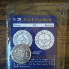 Reproducciones billetes y monedas: Nº 28-JOSE I NAPOLEON-5 PESETAS 1808-BARCELONA. Lote 68721113