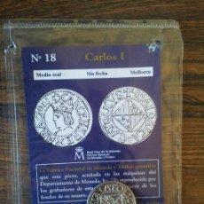 Reproducciones billetes y monedas: Nº 18 MEDIO REAL CARLOS I SIN FECHA MALLORCA. Lote 68721381