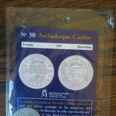 Reproducciones billetes y monedas: Nº 30 ,2 REALES,ARCHIDUQUE CARLOS ,1707,BARCELONA. Lote 68721509