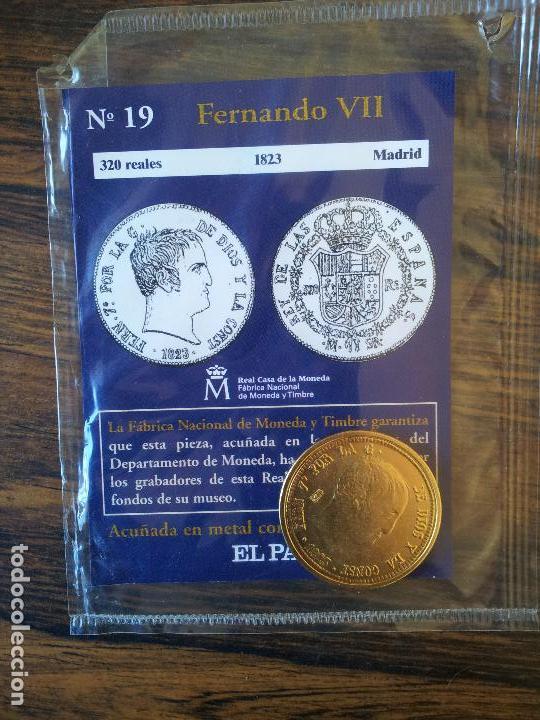 Nº 19-FERNANDO VII-320 REALES-1823-MADRID (Numismática - Reproducciones)