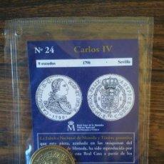 Reproducciones billetes y monedas: Nº 24-CARLOS IV-8 ESCUDOS-1790-SEVILLA. Lote 68722229