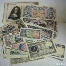 Reproducciones billetes y monedas: BILLETES REPRODUCION AUTORIZADA DE BILLETES DE LA PESETA LOTE DE 52 BILLETES L-2. Lote 134853075