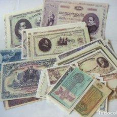 Reproducciones billetes y monedas: BILLETES REPRODUCION AUTORIZADA DE BILLETES DE LA PESETA LOTE DE 52 BILLETES LOTE-Nº-1.. Lote 150985924