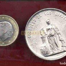 Reproducciones billetes y monedas: L16 MONEDA MEDALLA FICHA EKL FV ~ FONSAGRADA ~ LUGO ~AUGUSTO ULLOA ~ REPRODUCCIÓN REPLICA GALICIA. Lote 168740660