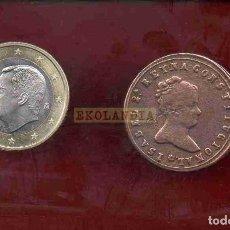 Reproducciones billetes y monedas: L16 MONEDA MEDALLA FICHA EKL FV ~ FERROL ~ PROCLAMACIÓN DE ISABEL II ~ REPRODUCCIÓN REPLICA GALIC. Lote 232598446