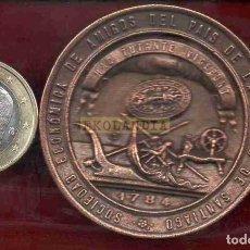 Reproducciones billetes y monedas: L16 MONEDA MEDALLA FICHA EKL FV ~ SANTIAGO DE COMPOSTELA ~ SOCIEDAD ECONÓMICA DE AMIGOS DEL PAÍS REP. Lote 277116383