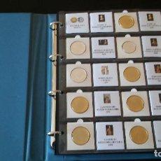 Reproducciones billetes y monedas: ALBUM CON REPLICAS DE MONEDAS ESPAÑOLAS DEL REAL A LA PESETA. Lote 72206443