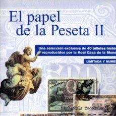Reproducciones billetes y monedas: EL PAPEL DE LA PESETA II EKL ALBUM COMPLETO REPRODUCCIÓN, REAL CASA MONEDA DIARIO PERIODICO EL PAÍS. Lote 183462537