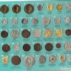 Reproducciones billetes y monedas: ALBUM CARPETA COMPLETO CON LAS 45 MONEDAS DE LA HISTORIA DE VALLADOLID CON TODA LA EXPLICACION. Lote 73746015