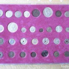 Reproducciones billetes y monedas: HISTORIA DE LA PESETA. REPLICA DE 30 MONEDAS. COLECCION COMPLETA. PERIODICO HUELVA INFORMACION. Lote 76215523