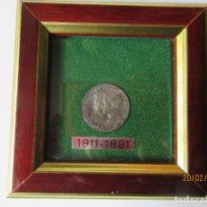 Reproducciones billetes y monedas: MONEDA CONMEMORATIVA DEL 80 ANIVERSARIO DEL REAL CLUB DE REGATAS ALFONSO XIII Y V.EUGENIA EN PLATA. Lote 76836831
