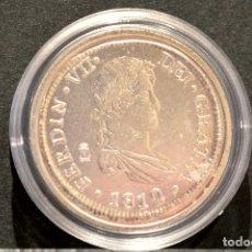 Reproducciones billetes y monedas: BONITA REPRODUCCIÓN MONEDA PLATA 8 REALES 1823 FERNANDO VII ESPAÑA METAL CON BAÑO DE PLATA FINA. Lote 76923347