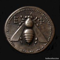 Reproducciones billetes y monedas: REPRODUCCIÓN DE UN TETRADRACMA JONIO DE ÉFESO 394-295 A.C.. Lote 147875688