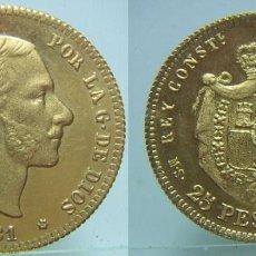 Riproduzioni banconote e monete: MONEDA DE ALFONSO XII 25 PESETAS 1881. Lote 101422350