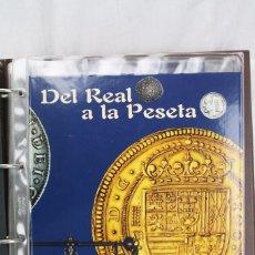 Reproducciones billetes y monedas: COLECCIÓN DE REPRODUCCIONES NUMISMÁTICAS - DEL REAL A LA PESETA - BAÑO ORO Y PLATA - EL PAÍS / FNMT. Lote 80915908