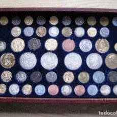 Reproducciones billetes y monedas: ESTUCHE COLECCIÓN DE 50 MONEDAS ESPAÑOLAS HISTÓRICAS. COLECCION COMPLETA . Lote 81073960