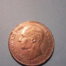 Reproducciones billetes y monedas: 5 PESETAS 1879 ALFONSO XII . FALSA .. Lote 82205640