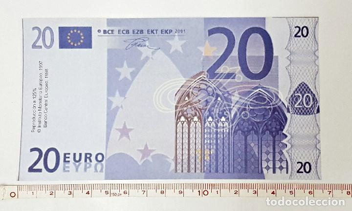 REPRODUCCION A 125% DE BILLETE DE 20 € (Numismática - Reproducciones)