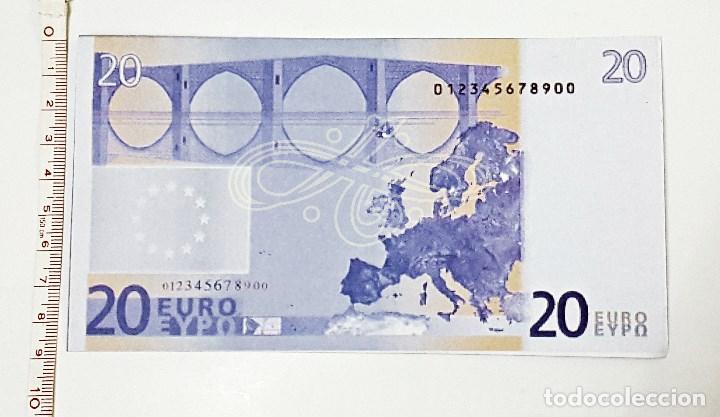 Reproducciones billetes y monedas: Reproduccion a 125% de billete de 20 € - Foto 2 - 84255244