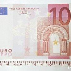 Reproducciones billetes y monedas: REPRODUCCION A 125% DE BILLETE DE 10 €. Lote 84255652