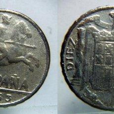 Reproducciones billetes y monedas: REPRODUCCION DE DIEZ CENTIMOS 1953. Lote 87653668