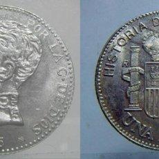 Reproducciones billetes y monedas: REPRODUCCION DE UNA MONEDA DE ALFONSO XIII 1905 PLATA. Lote 87656812