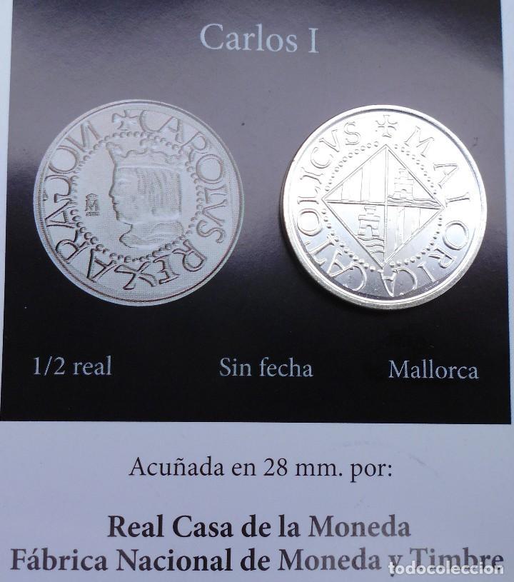 Reproducciones billetes y monedas: MONEDA DE 1/2 REAL SIN FECHA DE MALLORCA REINADO CARLOS I MIRA LAS FOTOS - Foto 2 - 89483800