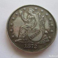 Reproducciones billetes y monedas: ESTADOS UNIDOS * TRADE DOLLAR 1872. Lote 89507800