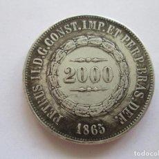 Reproducciones billetes y monedas: BRASIL * 2000 REIS 1865. Lote 89507972