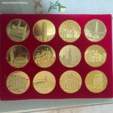 Reproducciones billetes y monedas: DOCE MEDALLAS PAÍSES EUROPEOS, 5 CM DE DIÁMETRO. Lote 89637084