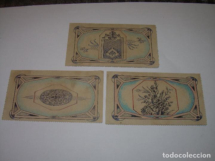 Reproducciones billetes y monedas: AUXILIO SOCIAL...TRES VALES PARA ENTRADAS DE CINE...MOLLERUSA..LERIDA. - Foto 3 - 91153505
