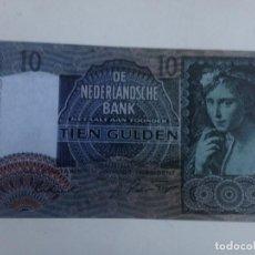 Reproducciones billetes y monedas: BILLETE HOLANDA. 10 GULDEN. 1941. AMSTERDAM. II GUERRA MUNDIAL. RÉPLICA. SIN CIRCULAR. Lote 277738973