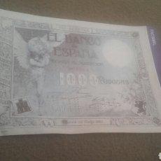 Reproducciones billetes y monedas: BILLETE 1000 PESETAS FACSMIL Nº: 41.. Lote 91455778