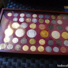 Reproducciones billetes y monedas: REPLICAS DE LAS MONEDAS DE LA HISTORIA DE ESPAÑA LAS DE LA FOTO. Lote 91618185