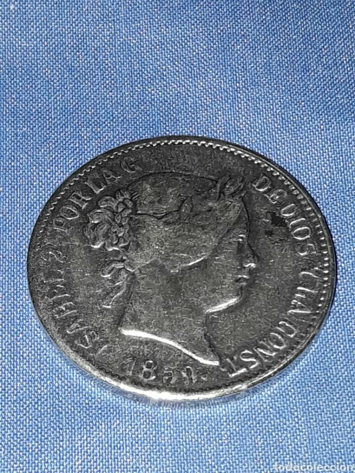 MONEDA ISABEL 2-AÑO 1859-20 REALES (REPLICA) (Numismática - Reproducciones)