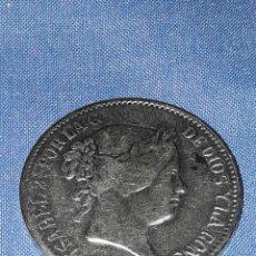 Reproducciones billetes y monedas: MONEDA ISABEL 2-AÑO 1859-20 REALES (REPLICA). Lote 91756047