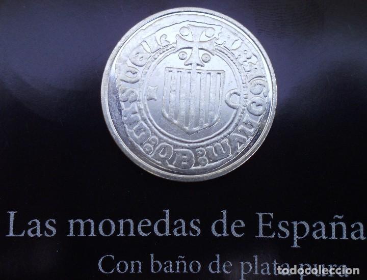 Reproducciones billetes y monedas: MEDIO REAL SIN FECHA DE FERNANDO II CON BAÑO DE PLATA PURA ACUÑADA LA REAL CASA D LA MONEDA - Foto 2 - 94516926