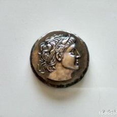 Reproducciones billetes y monedas: PRECIOSA REPRODUCCIÓN MONEDA DE PLATA GRIEGA. Lote 183029565