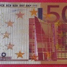 Reproducciones billetes y monedas: BILLETE DE 500 EUROS - SERIE ORO - PRODUCTO NUEVO . Lote 95199615