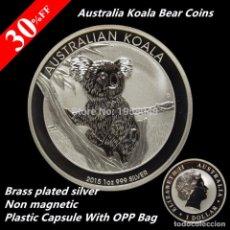 Reproducciones billetes y monedas: MONEDA 1 DOLAR KOALA AUSTRALIA 2015 - 1OZ 999 SILVER - VER DESCRIPCION (1). Lote 95392231